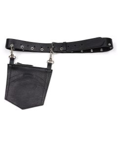 D'HEYGERE POCKET BELT / BLACK-SILVER