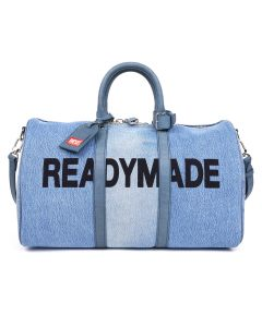 DIESEL RED TAG PROJECT BY READYMADE RM BG01/TRAVEL BAG / BLUE DENIM
