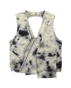 DIESEL RED TAG x A-COLD-WALL* STAIN PRINT UTILITY VEST / 46K