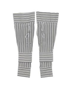 DELADA SLEEVES ACCESSORY / STRIPEY GREEN-GREY
