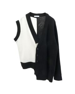 DELADA CARDIGAN / BLACK AND WHITE