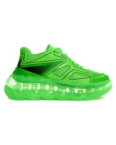 [お問い合わせ商品] SHOES 53045 BUMP'AIR / GREEN NEON