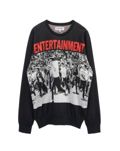EGUAG ENTERTAINMENT JQ SWEATER / BLACK