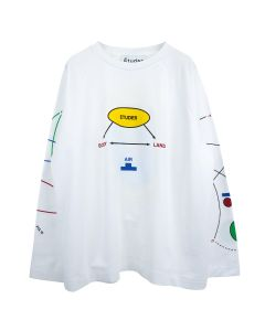 Études DESERT BODY LAND T-SHIRT / WHITE