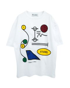 Études MUSEUM FLEXIBLE SPACE T-SHIRT / WHITE