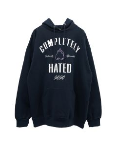 EMOTIONALLY UNAVAILABLE COMPLETELY HATED HOODIE / NAVY
