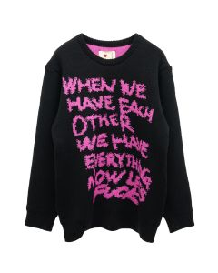 EMOTIONALLY UNAVAILABLE NOWLETS FUCK KNIT SWEATER / BLACK