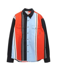 FUCKING AWESOME PRINTED WESTERN SHIRT / BLACK-RED-BLUE-WHITE