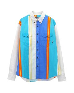 FUCKING AWESOME PRINTED WESTERN SHIRT / WHITE-BLUE-TEAL-ORANGE-YELLOW