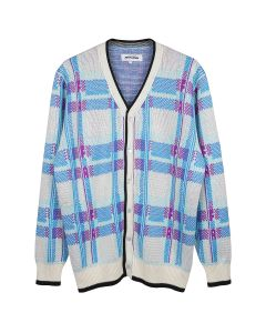 FUCKING AWESOME FREAK PLAID CARDIGAN / WHITE