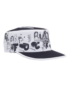 FUCKING AWESOME BLOCK LETTERS PAINTERS CAP / WHITE