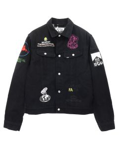FUCKING AWESOME SPONSORED FA RODEO JACKET / BLACK WITH YELLOW INTERIOR