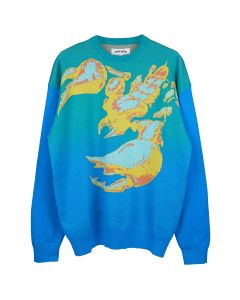 FUCKING AWESOME SCORPION KNIT SWEATER / TEAL