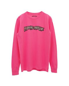 FUCKING AWESOME ACTUAL VISUAL GUIDANCE L/S TEE / P:PIGMENT DYED NEON PINK