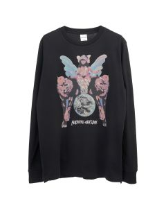 FUCKING AWESOME WINGED WOMEN L/S TEE / BLACK
