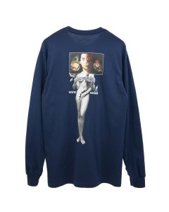 FUCKING AWESOME WIZARDS L/S TEE / NAVY