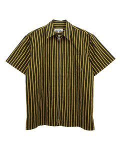 FUCKING AWESOME OVERSPRAY STRIPE SHIRT / BLACK-YELLOW