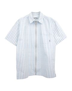 FUCKING AWESOME OVERSPRAY STRIPE SHIRT / WHITE-BLUE