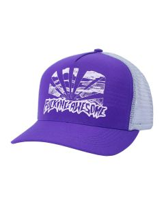 FUCKING AWESOME SUNSET PRE-CURVED SNAPBACK / PURPLE GREY