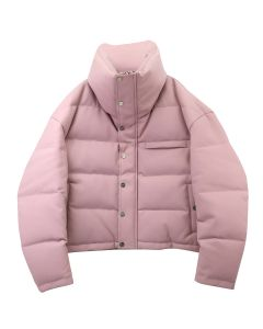 Feng Cheng Wang HIGH-NECK PUFFER JACKET / ROSE