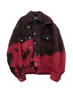 Feng Chen Wang TIE-DYE JACKET / BLACK-RED