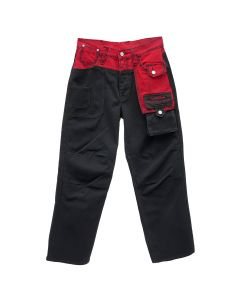 Feng Chen Wang x Levi's Red STRAIGHT LOOSE JEANS / BLACK-RED