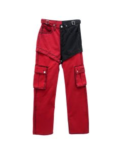 Feng Chen Wang x Levi's Red HIGH STRAIGHT LOOSE JEANS / RED-BLACK