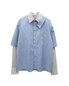 Feng Chen Wang 2 IN 1 SHIRT / BLUE STRIPE