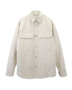 FEAR OF GOD SIXTH COLLECTION ULTRASUEDE SHIRT JACKET / 107 : CREAM