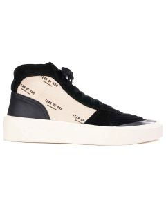 FEAR OF GOD SIXTH COLLECTION STRAPLESS SKATE MID / 966 : BLACK-CREAM FEAR OF GOD PRINT