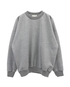 FEAR OF GOD CREWNECK BACK LOGO SWEATSHIRT / 035 : HEATHER GREY-BLACK