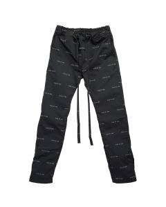 FEAR OF GOD SIXTH COLLECTION ALL OVER PRINT BAGGY NYLON PANT / 001 : BLACK