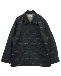 FEAR OF GOD SIXTH COLLECTION ALL OVER PRINT NYLON FIELD JACKET / 001 : BLACK