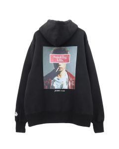 #FR2 BACK PHOTO SMOKER HOODIE / 029 : BLACK