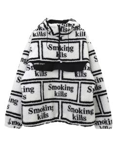 #FR2 SMOKING KILLS LOGO BOA ANORAK / 001 : WHITE