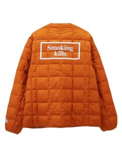 #FR2 TAION COLLABORATION WITH #FR2 CREW NECK BUTTON DOWN JACKET / 260 : ORANGE