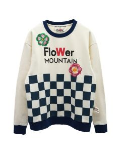 Walter Van Beirendonck for Flower MOUNTAIN CHECKS SWEATSHIRT / IVORY
