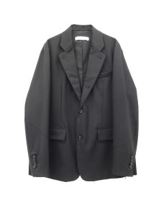 GAKURO NOTCH LAPEL 3B JACKET-DOUBLE COLLAR / BLACK
