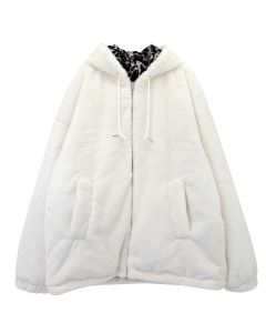 GAKURO REVERSIBLE FAKE FUR PARKA / WHITE-LEOPARD