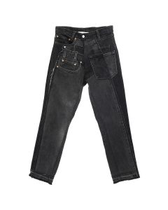 GAKURO DENIM PANTS [RAJN] 01 / BLACK