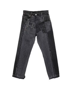 GAKURO DENIM PANTS [RAJN] 02 / BLACK