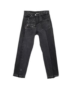GAKURO DENIM PANTS [RAJN] 06 / BLACK