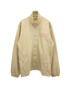GR10K MILITARY BASE JERSEY ZIP TRACK TOP / BEIGE