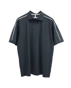 GR10K ULTRASOUND TAPED S/S POLO SHIRT / GREY