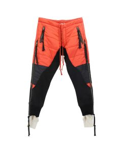 Greg Lauren RED PUFFY ZIP PANT / RED