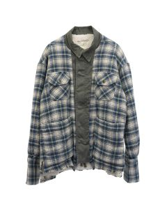 Greg Lauren ARMY FRONT BOXY WORK JACKET / CREAM NAVY