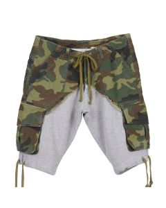 Greg Lauren CARGO SHORT / CAMO-GREY