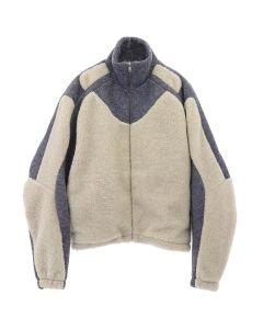 GmbH TWO-TONE FLEECE JACKET / BEIGE-GREY