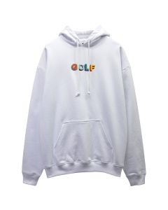 GOLF WANG MULTI COLOR 3D GOLF HOODIE / WHITE