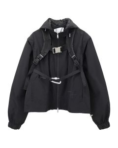 HELIOT EMIL TECHNICAL JACKET W.VEST / BLACK